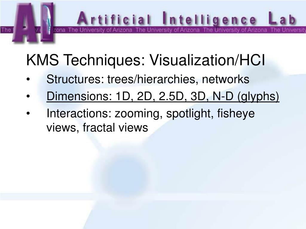 KMS Techniques: Visualization/HCI