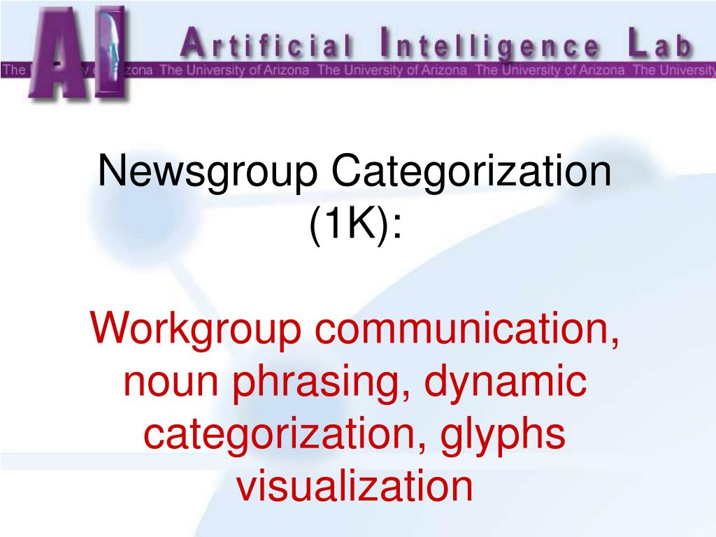 Newsgroup Categorization (1K):