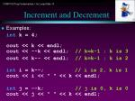 increment and decrement5