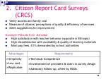 citizen report card surveys crcs