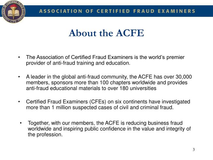 About the acfe1
