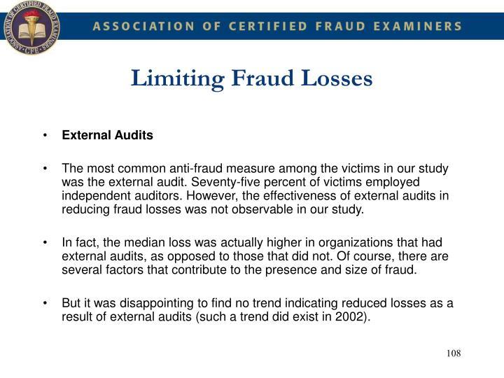 Limiting Fraud Losses