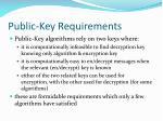 public key requirements