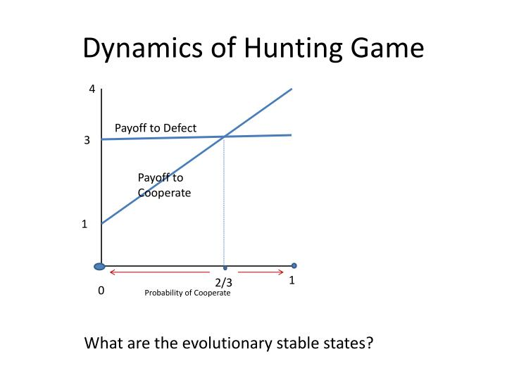 Dynamics of Hunting Game