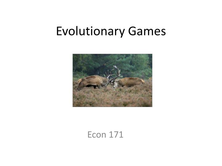 evolutionary games n.