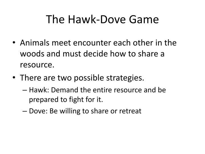 The hawk dove game