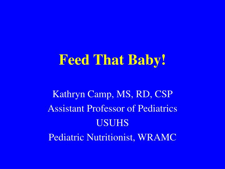 feed that baby n.