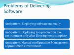 problems of delivering software