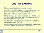 cost of banking
