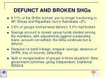 defunct and broken shgs