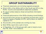 group sustainability