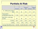 portfolio at risk