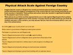 physical attack scale against foreign country