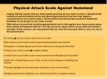 physical attack scale against homeland