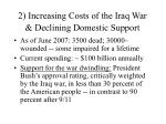 2 increasing costs of the iraq war declining domestic support