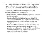 the deep domestic roots of the legitimate use of force american exceptionalism