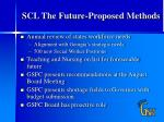 scl the future proposed methods