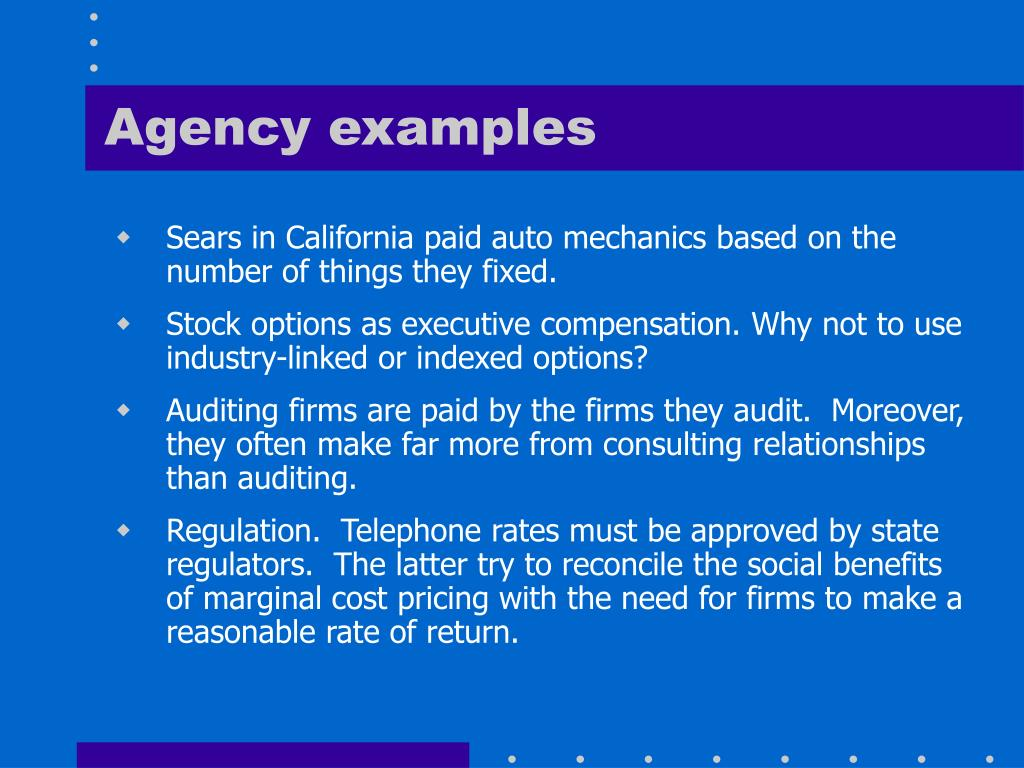Agency examples