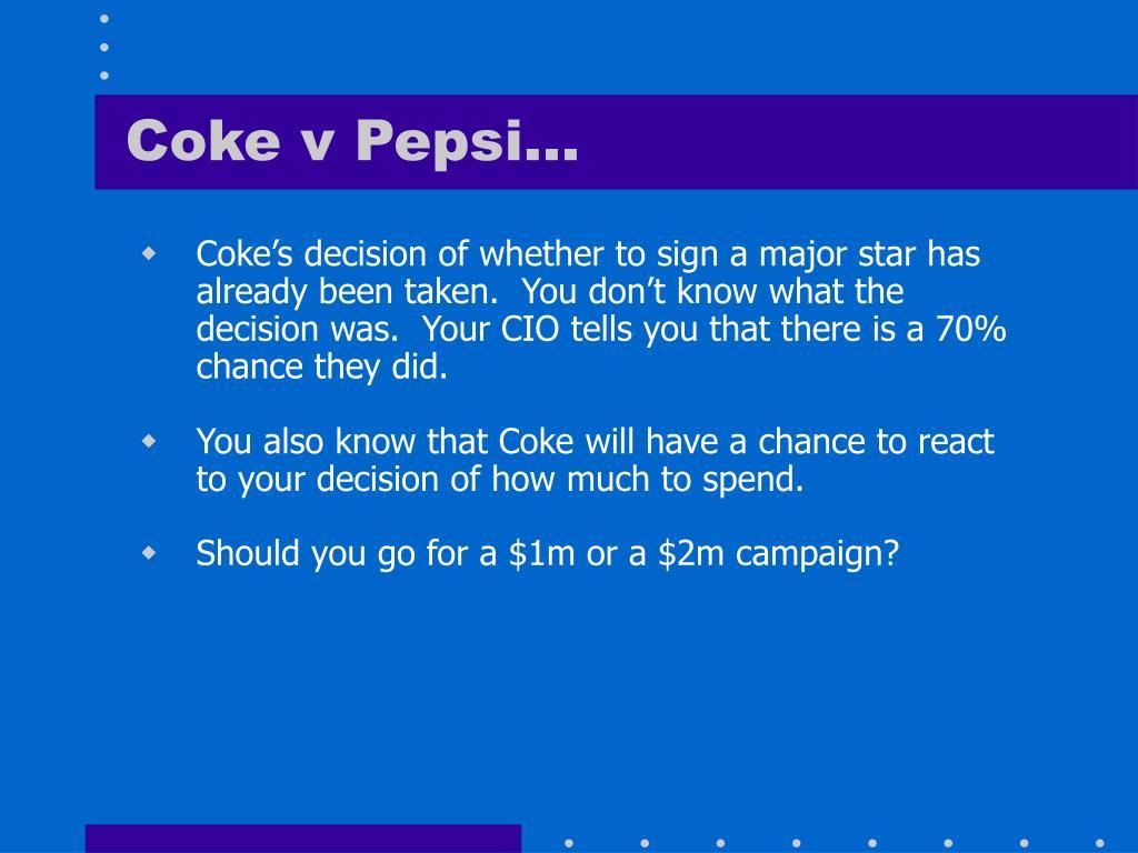 Coke v Pepsi…