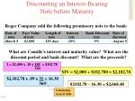discounting an interest bearing note before maturity2