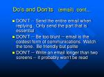 do s and don ts email cont1