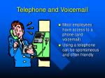 telephone and voicemail