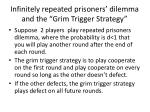 infinitely repeated prisoners dilemma and the grim trigger strategy