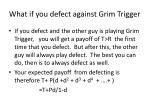 what if you defect against grim trigger