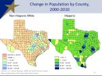 change in population by county 2000 2010