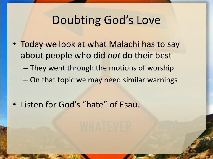 Doubting god s love