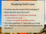 doubting god s love1