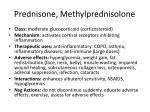 prednisone methylprednisolone