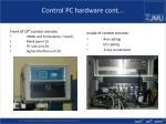 control pc hardware cont