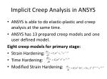implicit creep analysis in ansys