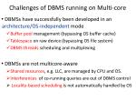 challenges of dbms running on multi core