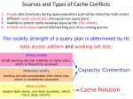 sources and types of cache conflicts