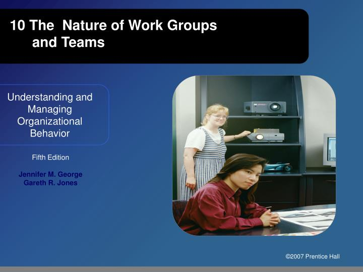 10 the nature of work groups and teams n.
