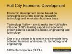 hutt city economic development