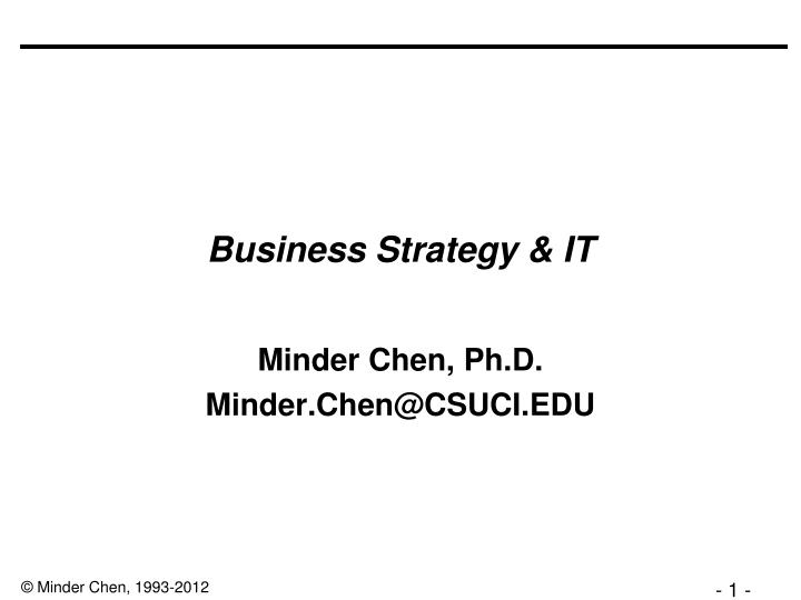 business strategy it n.
