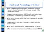 the social psychology of gmos