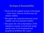 ecological sustainability
