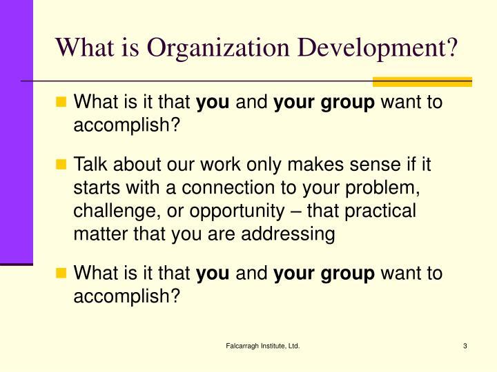 What is organization development1