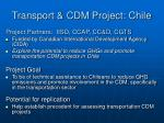 transport cdm project chile