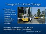 transport climate change