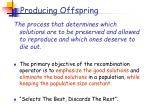 producing offspring