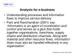 analysis for e business