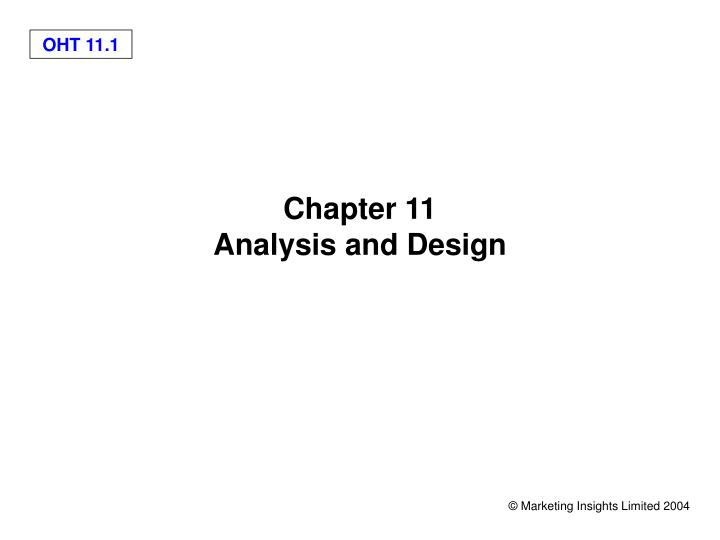 chapter 11 analysis and design n.