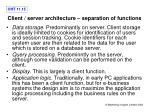 client server architecture separation of functions