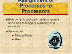 assignment of processes to processors1