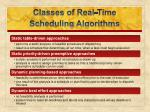 classes of real time scheduling algorithms